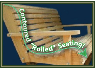 Porch Swing Contoured Seating