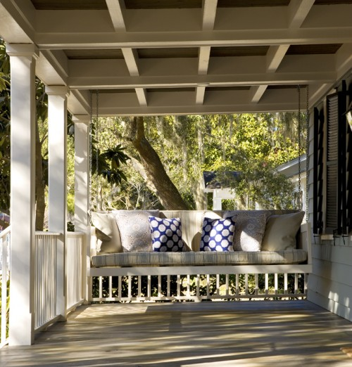 Porch swing beds cypress moon porch swings 39 s blog for Old porch swing