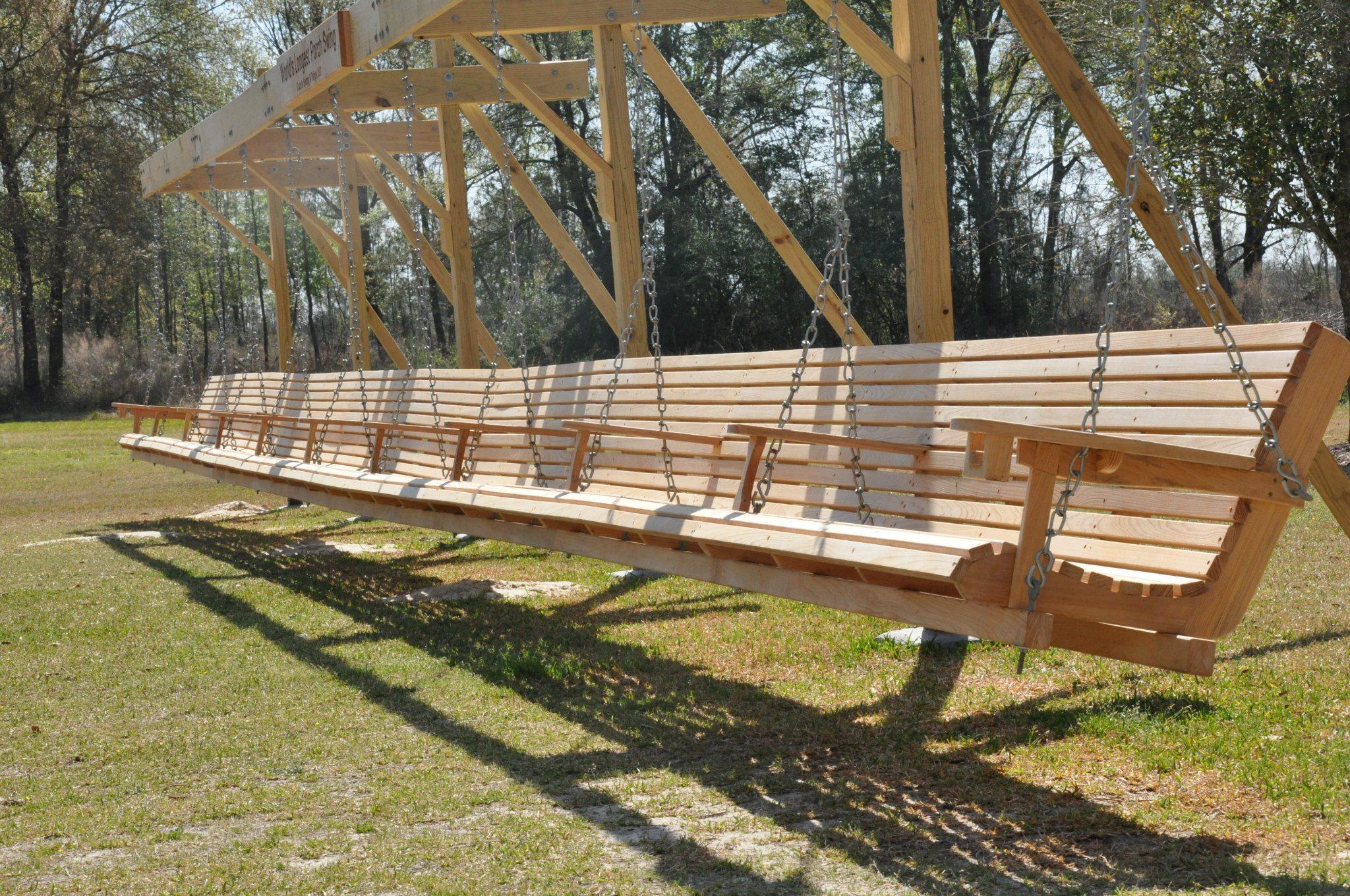 Diy wooden bench swing
