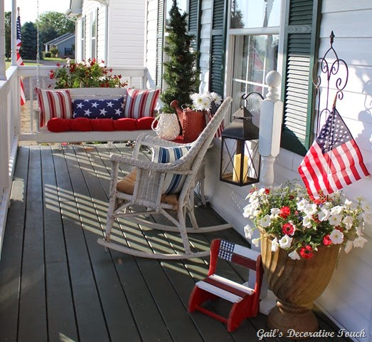 Patriotic Patio Swing