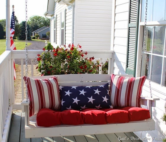 Patriotic Porch Swing